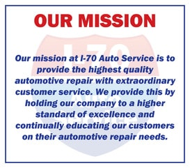 Our Mission Statement | I-70 Auto Service